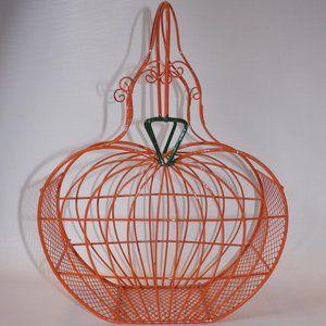 Metal Wire Pumpkin Basket CUTE